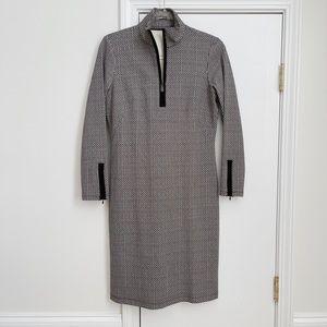 J. McLaughlin Black Half Zip Dress